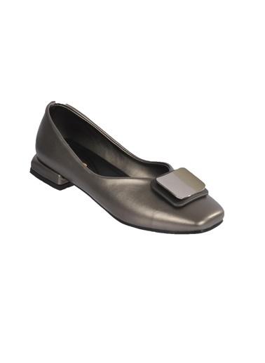 Mhd 123 Platin Kadın Günlük Ayakkabı Gümüş